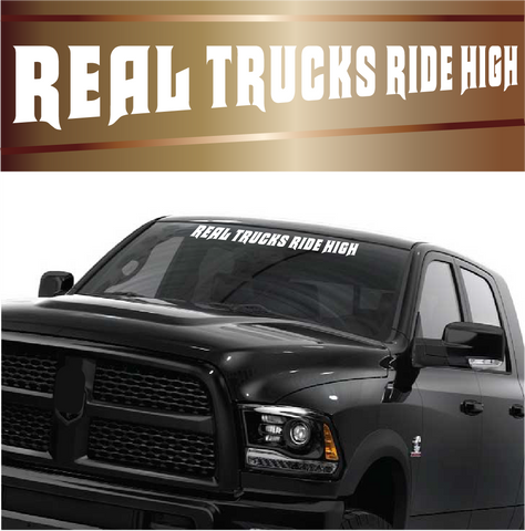 Real Trucks Ride High Lifted Truck Stickers Auto Window Stickers Custom Car Decals Car Stickers