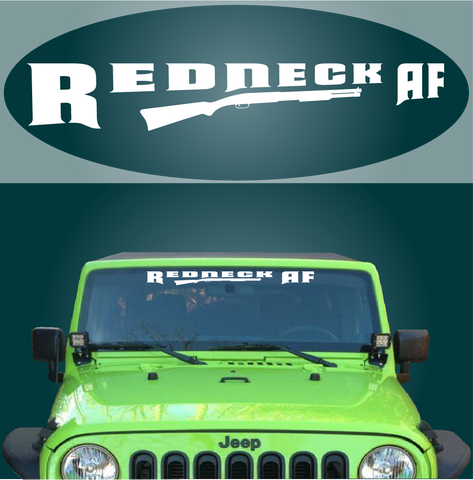 Redneck AF Windshield Decal Custom Car Decals Car Stickers