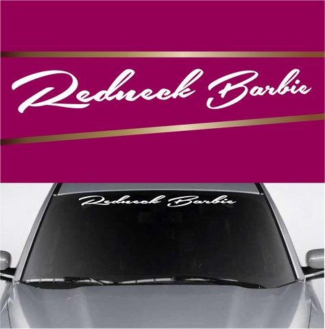 Redneck Barbie Windshield Banner Window Lettering Decals Custom Car Decals Car Stickers