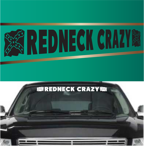 Redneck crazy auto decal redneck window decals custom car decals car stickers