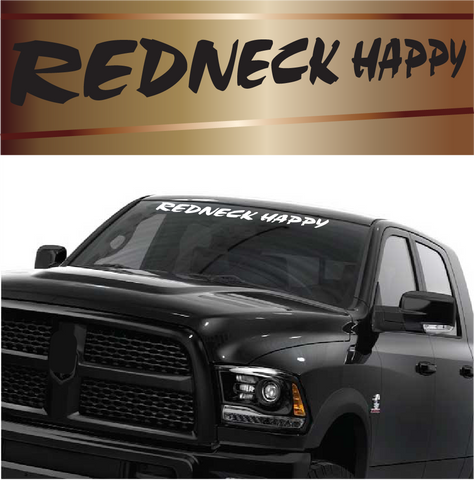 Redneck Happy Funny Redneck Window Decals Custom Car Decals Car Stickers