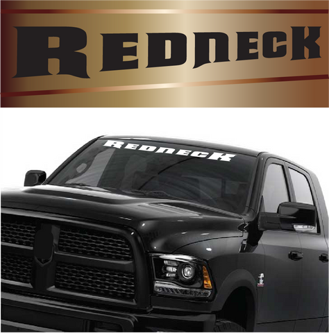 Redneck Decal Customized Windshield Banner Lettering Custom Car Decals Car Stickers