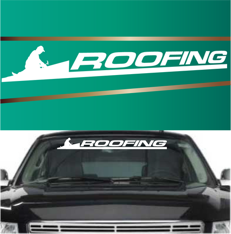 Roofing Advertising Automobile Windshield Banner Decal Custom Car Decals Car Stickers