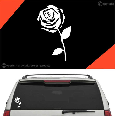 Rose Car Sticker Decal #A1 Custom Car Decals Car Stickers