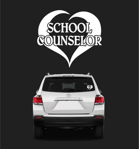 Loving Heart School Counselor Car Sticker Decal Custom Car Decals Car Stickers