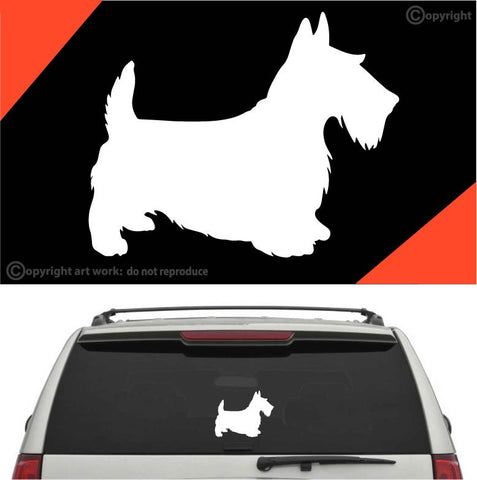 Scottie Dog Auto Decal Car Sticker #A1 Custom Car Decals Car Stickers