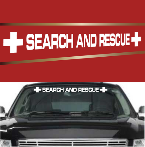 Search And Rescue Automobile Windshield Banner Decal Custom Car Decals Car Stickers