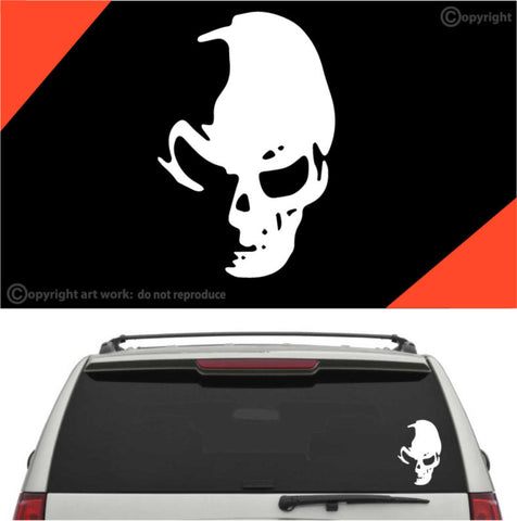 Cool Skull Decal Car Sticker #A1 Custom Car Decals Car Stickers