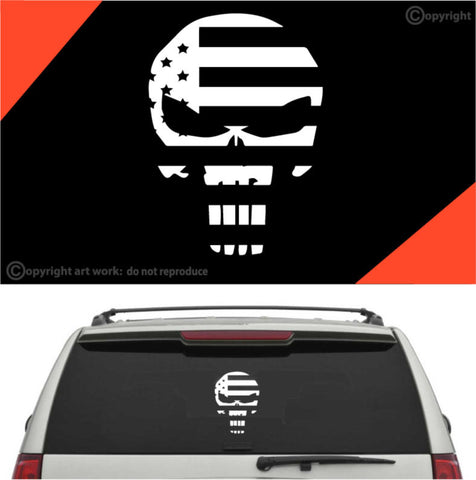 Skull American Flag Decal Car Sticker Custom Car Decals Car Stickers