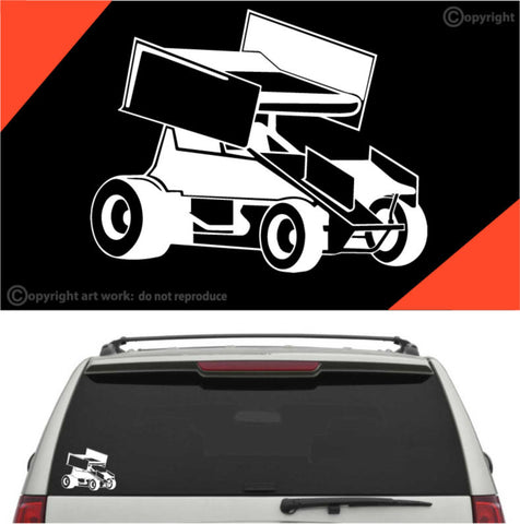 Sprint Car Decal Car Sticker #A1 Custom Car Decals Car Stickers