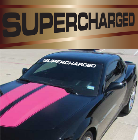 Supercharged windshield banner custom window sticker decal custom car decals car stickers