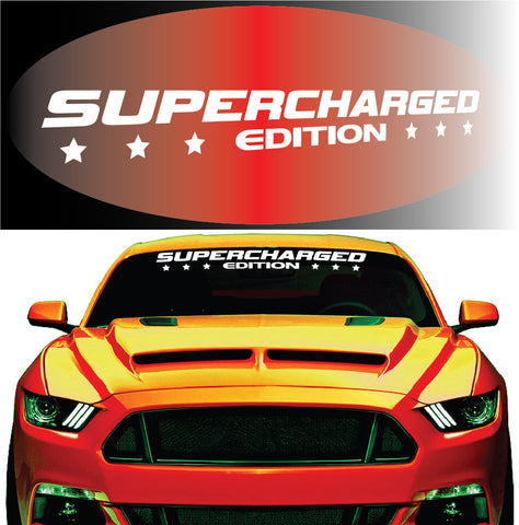 Supercharged Edition Windshield Decal Custom Car Decals Car Stickers