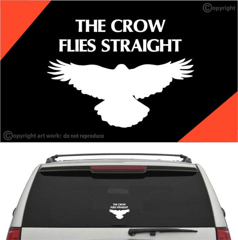 The Crow Flies Straight Car Sticker Decal Custom Car Decals Car Stickers