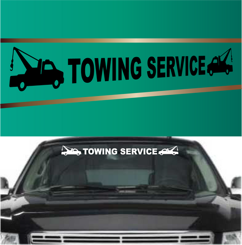 Towing Service Automobile Windshield Banner Decal Custom Car Decals Car Stickers
