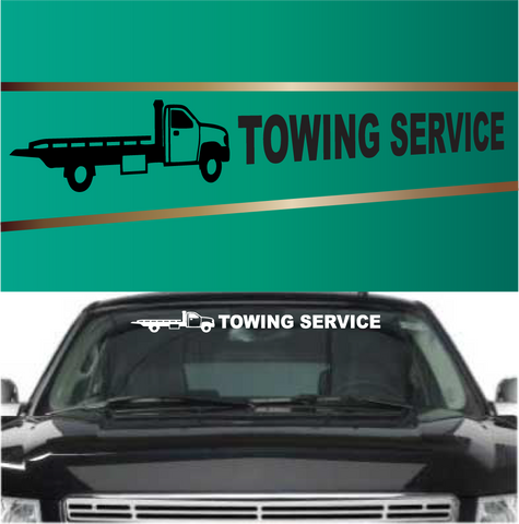 Towing Service Flatbed Automobile Windshield Banner Decal Custom Car Decals Car Stickers