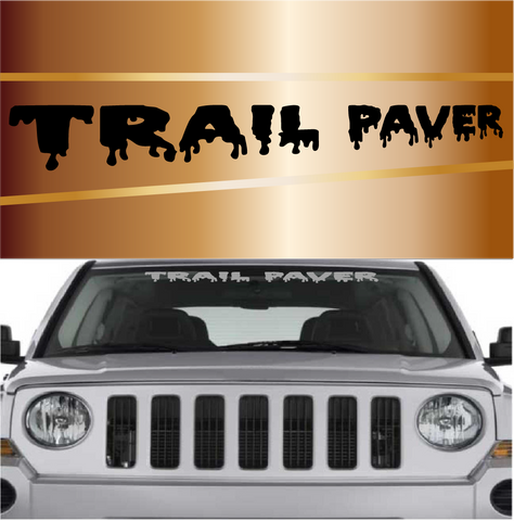 Trail Paver 4x4 Off Road Decal Windshield Banner Custom Car Decals Car Stickers
