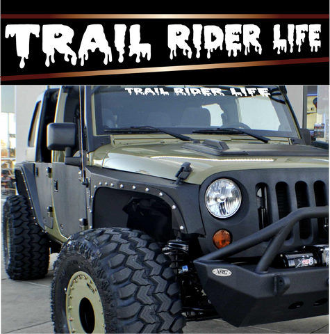 Trail Rider Life 4x4 Off Road Decals Custom Car Decals Car Stickers
