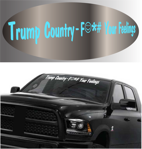 Trump Country Donald Trump Windshield Banner Car Decal Custom Car Decals Car Stickers