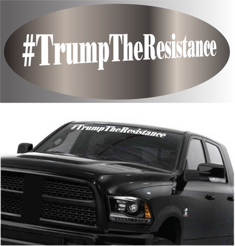 #Trump The Resistance Windshield Donald Trump Car Decal Custom Car Decals Car Stickers