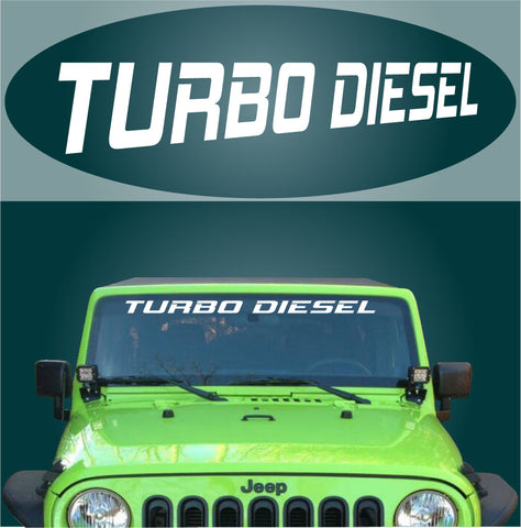 Turbo Diesel Windshield Banner Decal Custom Car Decals Car Stickers