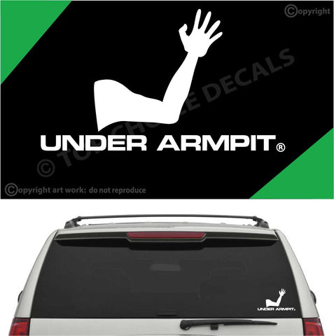 Under Armpit Funny Auto Decal Car Sticker Custom Car Decals Car Stickers