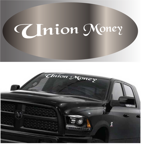 Union Money Windshield Banner Auto Decal Car Sticker Custom Car Decals Car Stickers