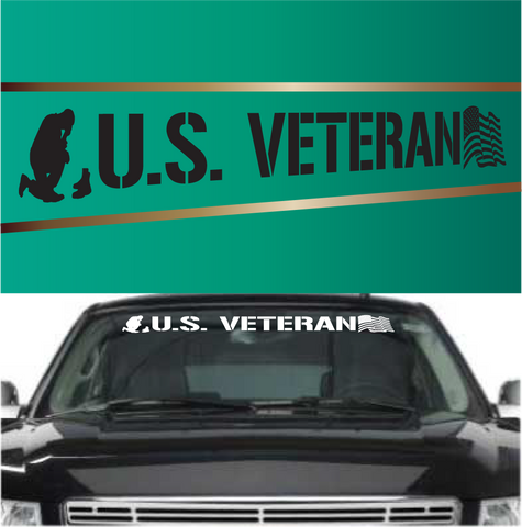 US Veteran Automobile Windshield Banner Decal Custom Car Decals Car Stickers
