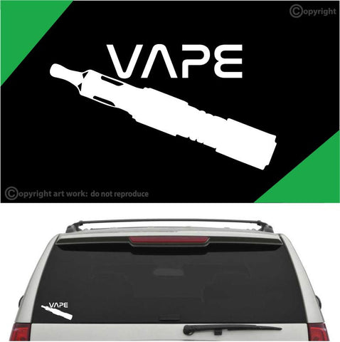 Vape Auto Decal Car Sticker Vaping Vinyl Decal Custom Car Decals Car Stickers