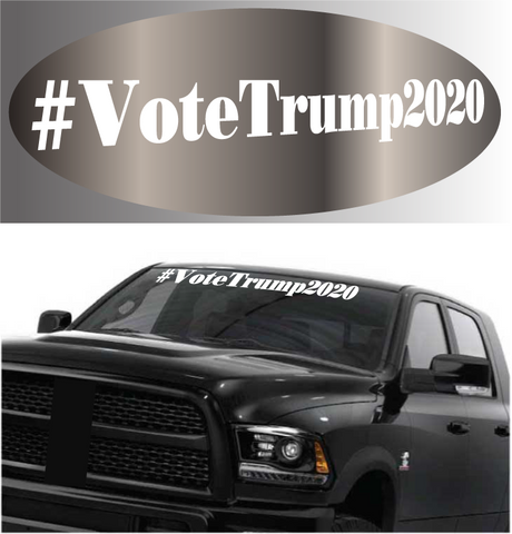 #Vote Trump 2020 Windshield Banner Donald Trump Car Decal Custom Car Decals Car Stickers