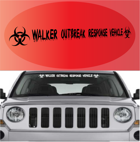 Walker Outbreak Response Vehicle Decal Banner Custom Car Decals Car Stickers