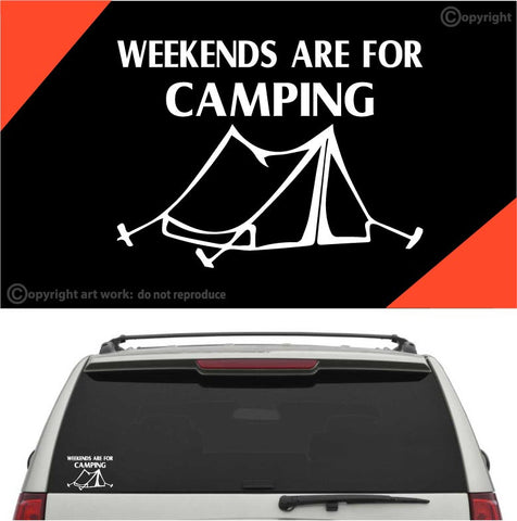 Weekends Are For Camping Auto Decal Car Sticker Custom Car Decals Car Stickers