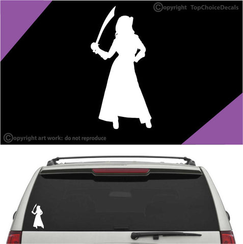 Woman Pirate Auto Decals Car Stickers A1 Custom Car Decals Car Stickers