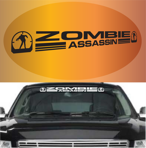 Zombie Assassin Zombie Decal Windshield Banner Custom Car Decals Car Stickers