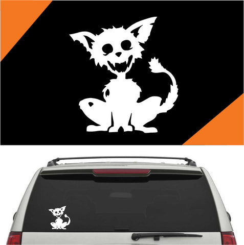 Zombie Cat Auto Decal Car Sticker