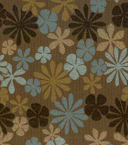 Blue Brown Floral