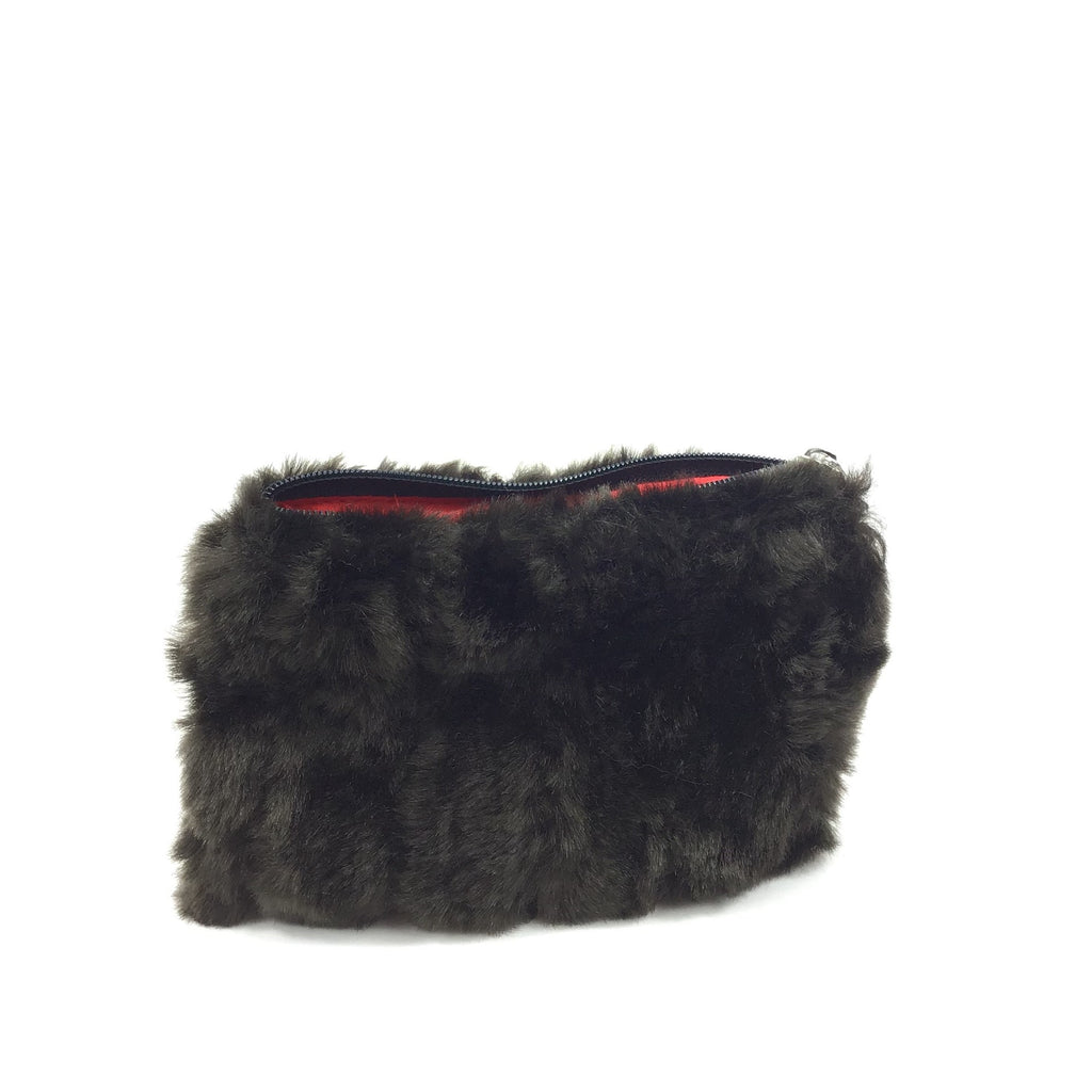 Kaylie Coin ZIP - Black Fur