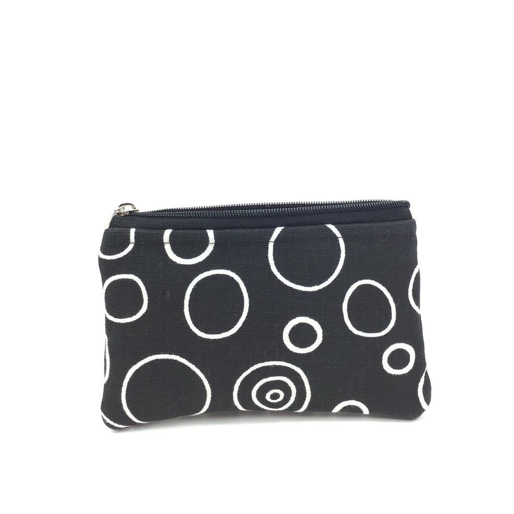 Kaylie Coin ZIP - White Circles