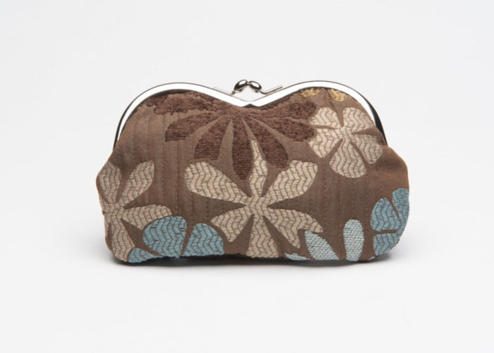 Charlie Wallet Blue & Brown Floral