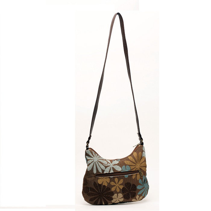 Lily Crossbody Blue/Brown Floral
