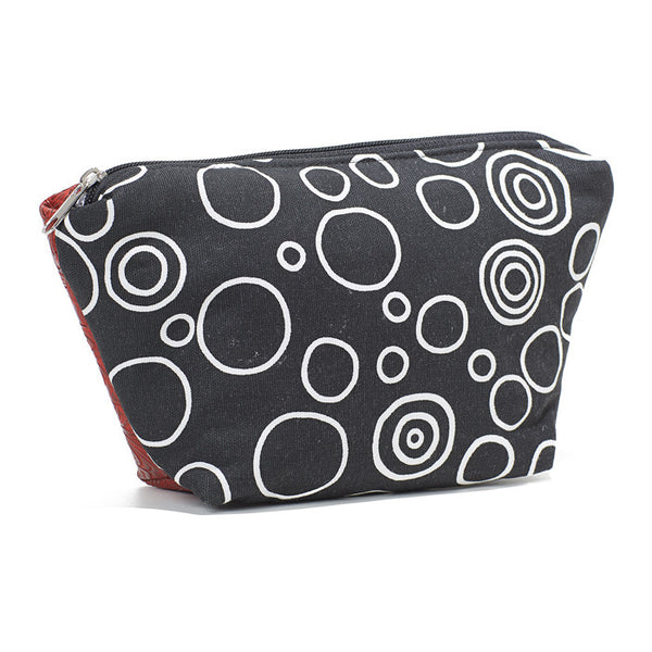 Cyndi Cosmetic Bag & Carryall Black Circles