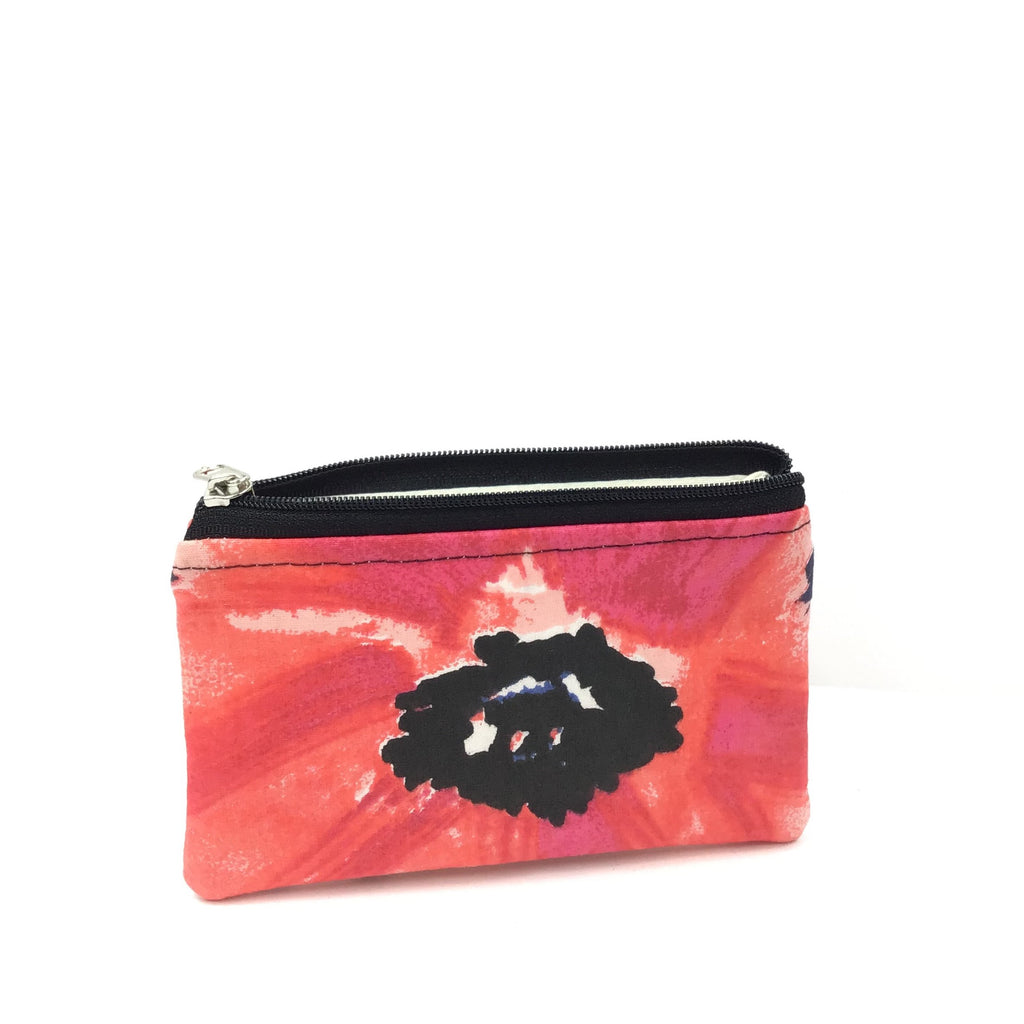 Kaylie Coin ZIP - Red Flower