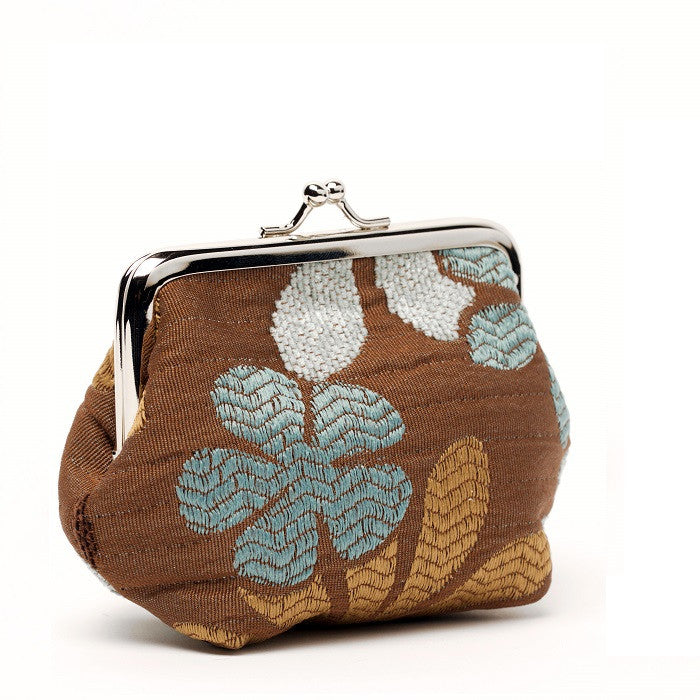 Coin Purse - Blue/Brown Floral