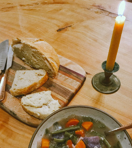 A kitchen table altar