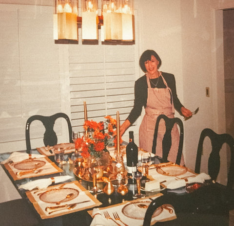 My grandmother in her natural state as dinner host