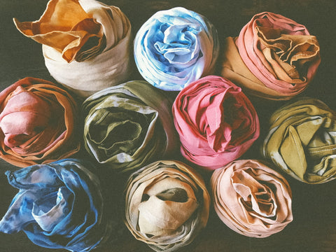 A rainbow of plant dyes from the Hina Luna studio