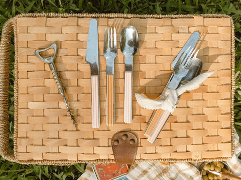 Picnic essentials found at the thrift store