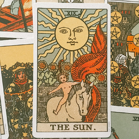 Hina Luna blog Summer Solstice Rituals for Connecting with the Elements and Energies of the season, the sun tarot card