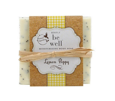 San Francisco Soap Co. Be Well Hand Crafted Bar - Lemon Poppy