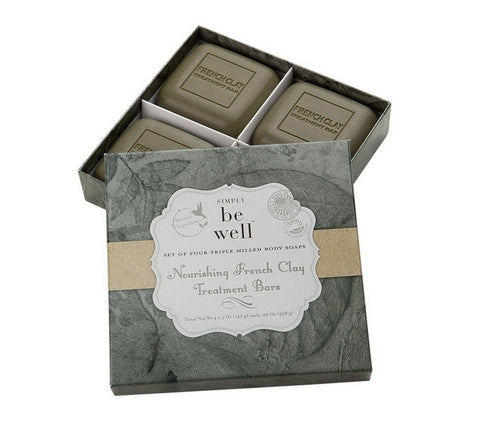 San Francisco Soap Co. Be Well Set of 4 Soaps - French Clay
