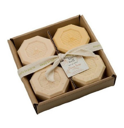 San Francisco Soap Co. Be Well Set of 4 Soaps - Honey